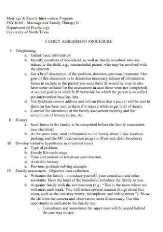 Marriage and Family Assessment