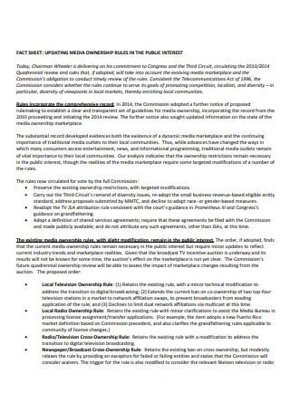 Media Ownership Fact Sheet