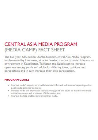 Media Program Fact Sheet