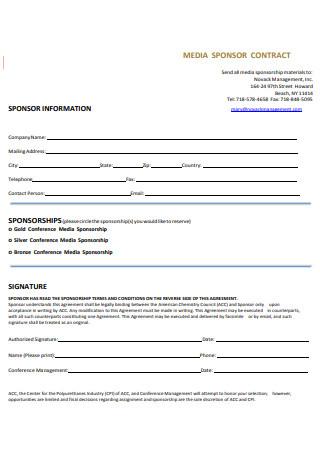 Media Sponsorship Contract