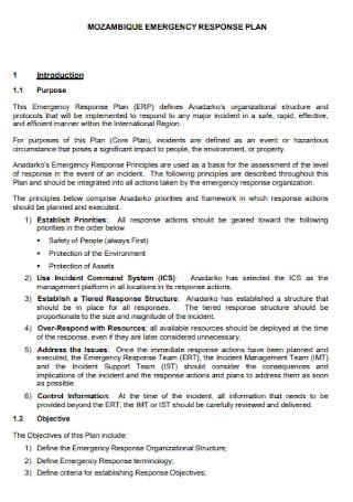 Mozambique Emergency Response Plan