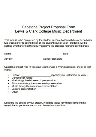 Music Department Project Proposal