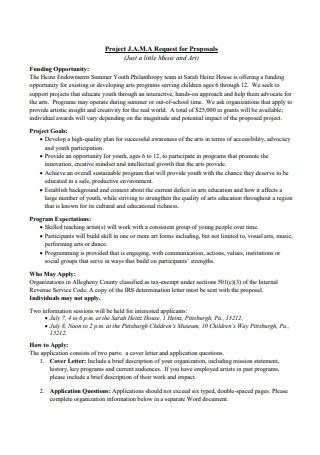 Music and Art Project Proposal