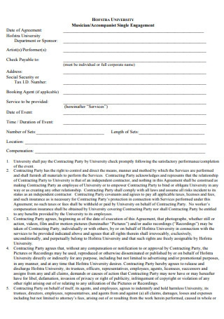 Musician Contract Format