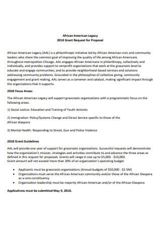 Nonprofit Grant Request For Proposal