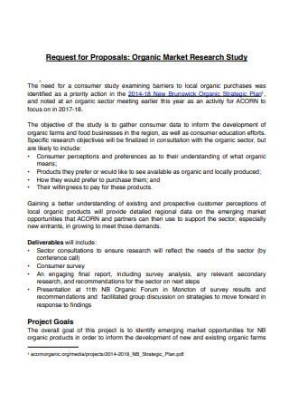 Organic Market Research Proposal