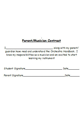 Parent Musician Contract