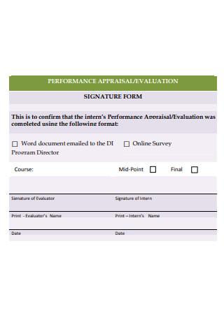 Performance Appraisal Evaluation Form