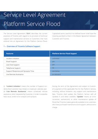 Platform Service Level Agreement