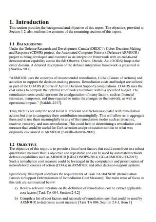 Preliminary Research Investigation Report