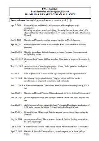 Press Release Fact Sheet in PDF