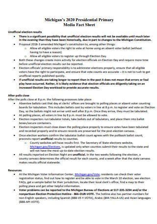 Primary Media Fact Sheet