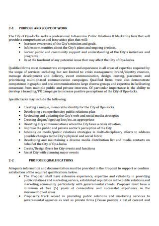 Printable Marketing Consultant Scope of Work