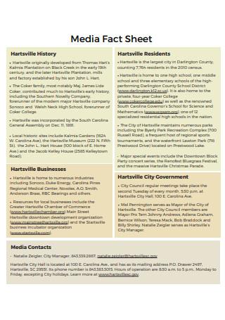 Printable Media Fact Sheet
