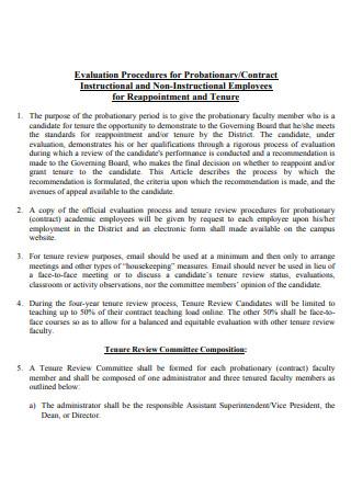 Probationary Evaluation Procedure