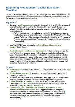 Probationary Teacher Evaluation