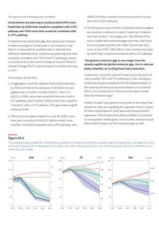Production Gap Executive Summary Report