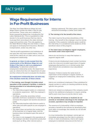 Profit Business Fact Sheet