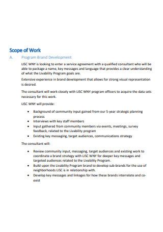 Program Brand Development Scope of Work