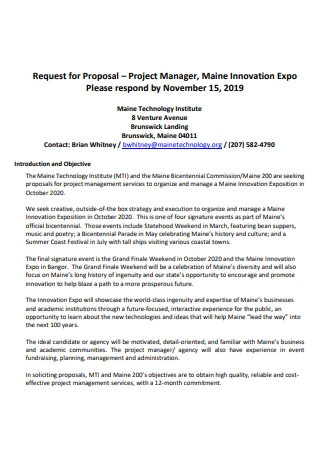Project Manager Proposal Template