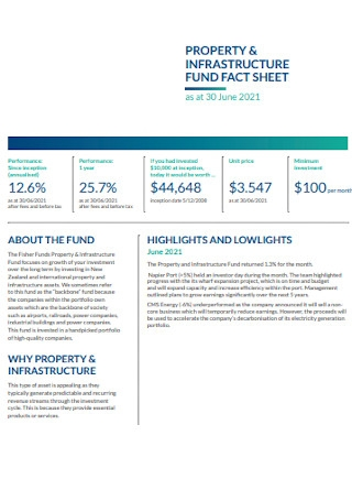 Property Infrastructure Fact Sheet