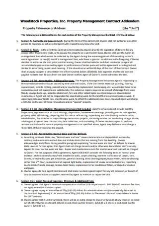Property Management Contract in PDF