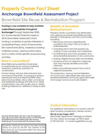 Property Owner Fact Sheet