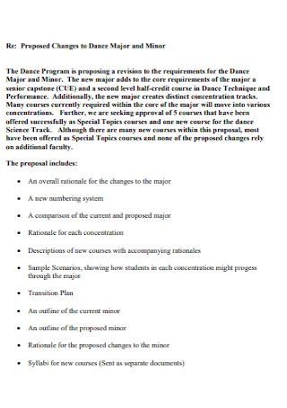 Proposal for Major Dance