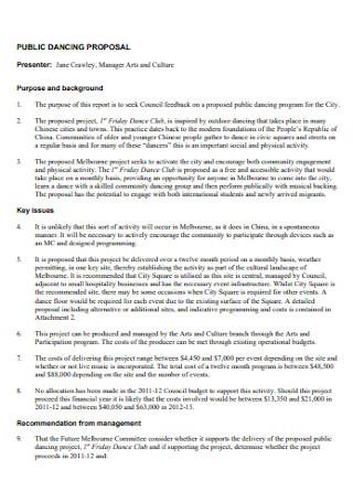 Public Dance Proposal