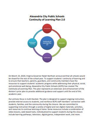 Public School Learning Continuity Plan