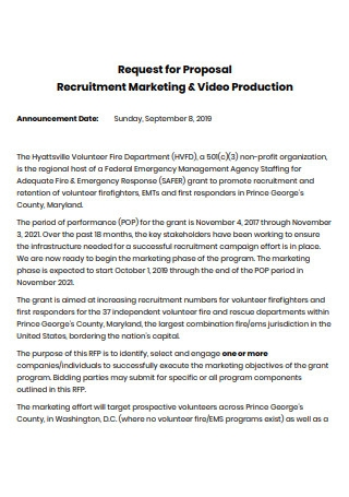 Recruitment Marketing and Video Production Proposal