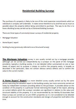 Residential Building Surveys