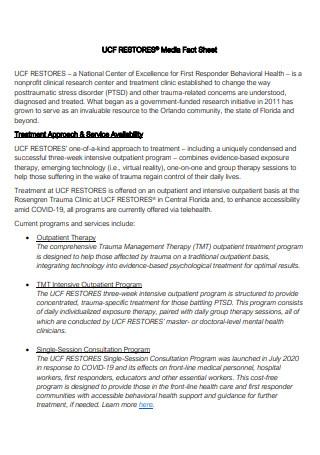 Restores Media Fact Sheet
