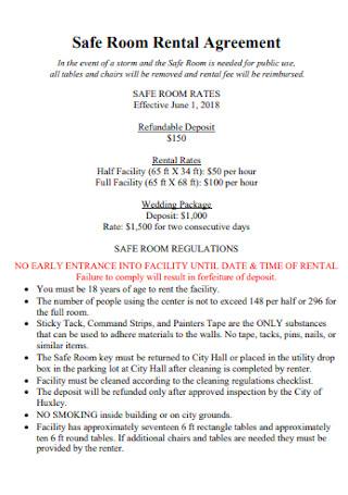 Safe Room Rental Agreement