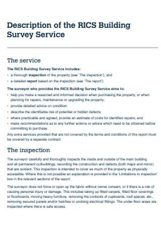 Sample Building Survey
