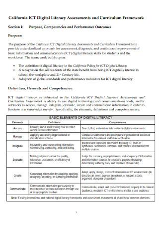 Sample Digital Literacy Assessments