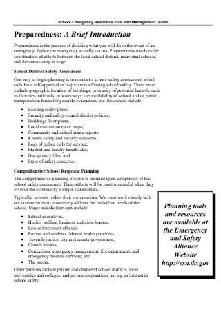 School Emergency Response Plan