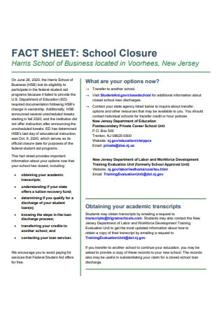 School of Business Fact Sheet