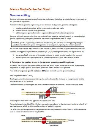 Science Media Centre Fact Sheet