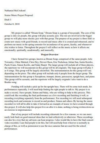 Senior Music Project Proposal