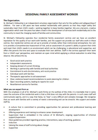 Sessional Family Assessment Workers