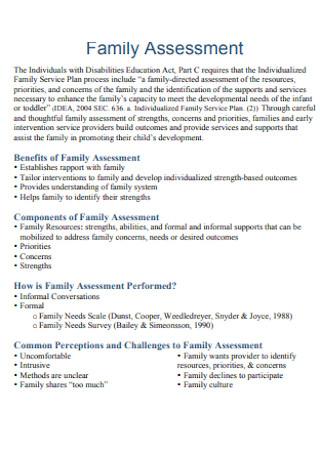 Simple Family Assessment
