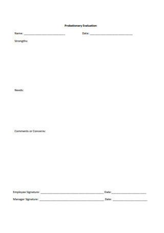 Simple Probationary Evaluation