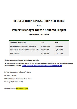 Simple Project Manager Proposal