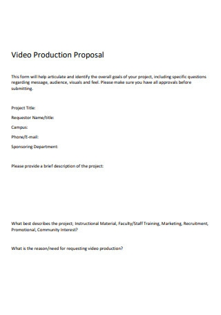 Simple Video Production Proposal