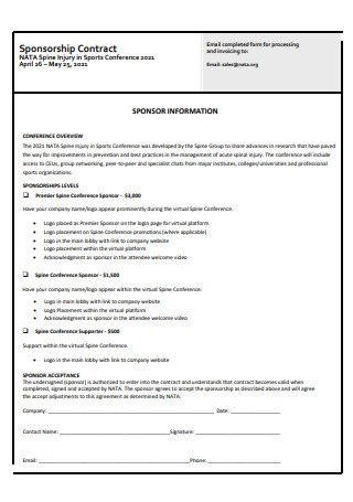 Sponsorship Contract Format