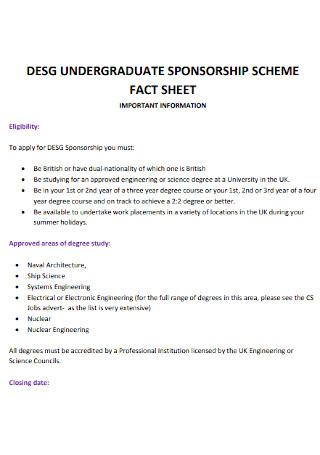 Sponsorship Scheme Fact Sheet
