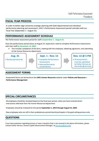 Staff Performance Assessment