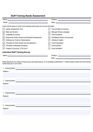 Staff Training Needs Assessment