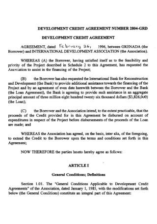 Standard Development Credit Agreement
